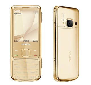 Illustration for article titled Nokia Taunts Us With Its 6700 Classic in 18-Carat Gold