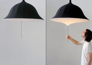 Illustration for article titled Etirement Lamp Concept Looks Like An Umbrella But I Wouldn't Suggest Using It In A Downpour