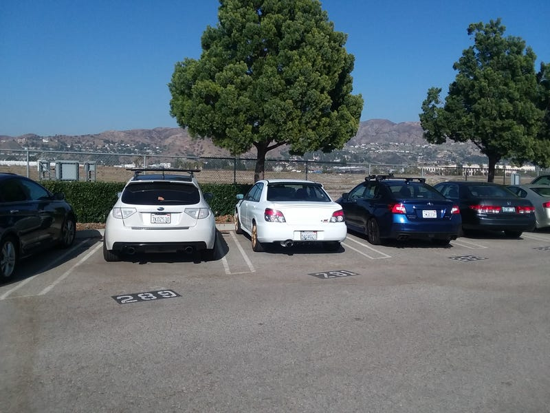 Illustration for article titled Found the ideal parking spot at Burbank Airport for my STi