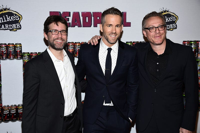 From left to right: Rhett Reese, Ryan Reynolds, and Paul Wernick (Photo: Dimitrios Kambouris/Getty Images)