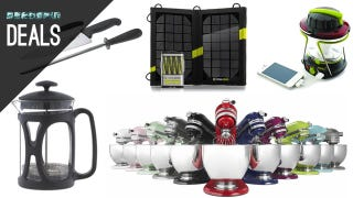 Illustration for article titled Deals: $160 KitchenAids, Solar Gadget Chargers, Victorinox Knives