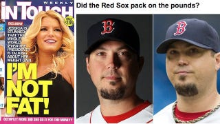 Illustration for article titled Who's Fatter, Josh Beckett Or Jessica Simpson?