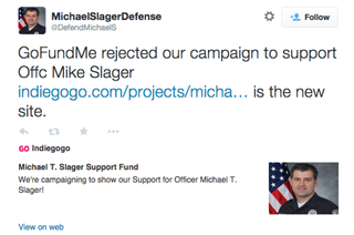 Twitter screenshot from account appearing to support South Carolina cop Michael SlagerTwitter