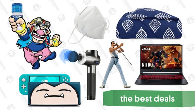 Tuesday s Best Deals: Acer Nitro 5, Crane & Canopy Winter Sale, Naipo Massage Gun, Shower Beer Holder and Bluetooth Speaker, KN95 Face Masks, and More