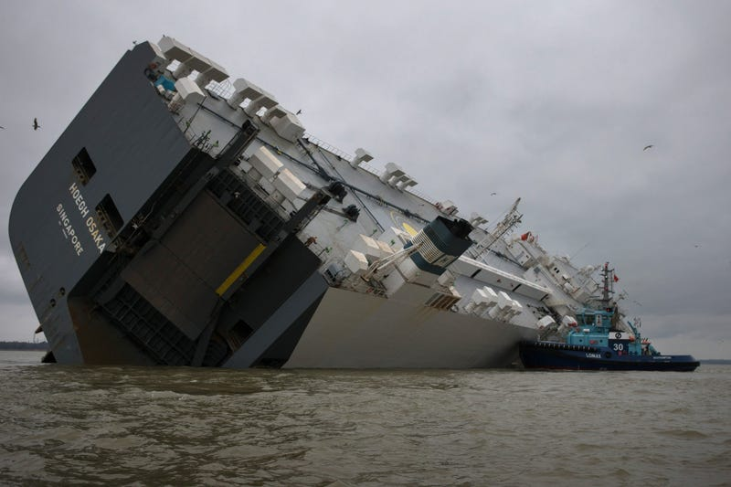 These Photos Of That Grounded Car Carrier Ship Are