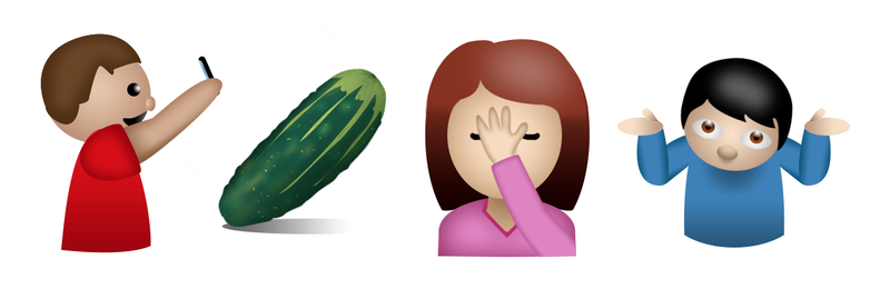 Illustration for article titled Bacon, selfies y patatas: así son los 38 nuevos emoji que llegan en 2016