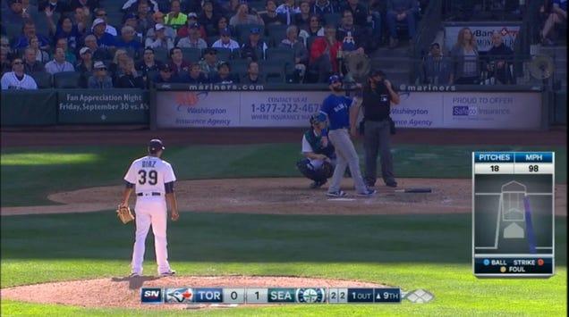 Jose Bautista AdmiresHuge DingerWith A Backwards Home Run Tro…
