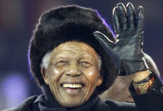 An aging Nelson Mandela makes a surprise visit home. (Getty)