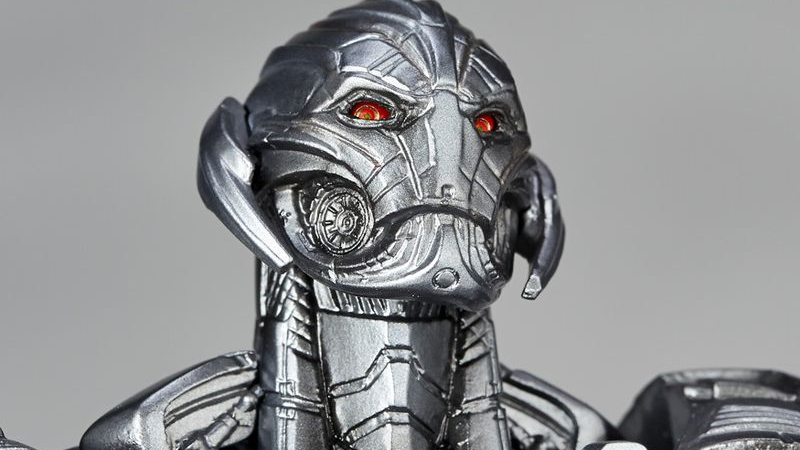 Illustration for article titled Behold The Incredible Sneer On Revoltech's Ultron Action Figure
