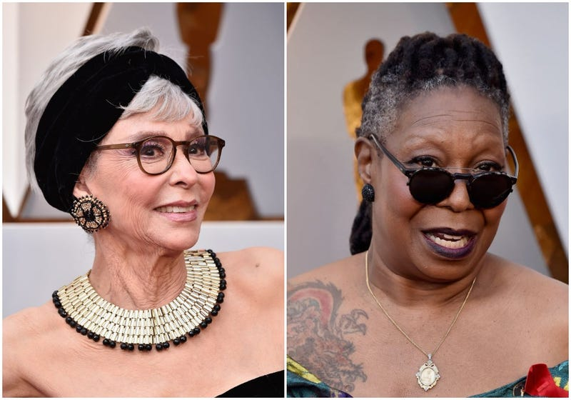 the oscars are graced tonight by egots whoopi goldberg and rita moreno