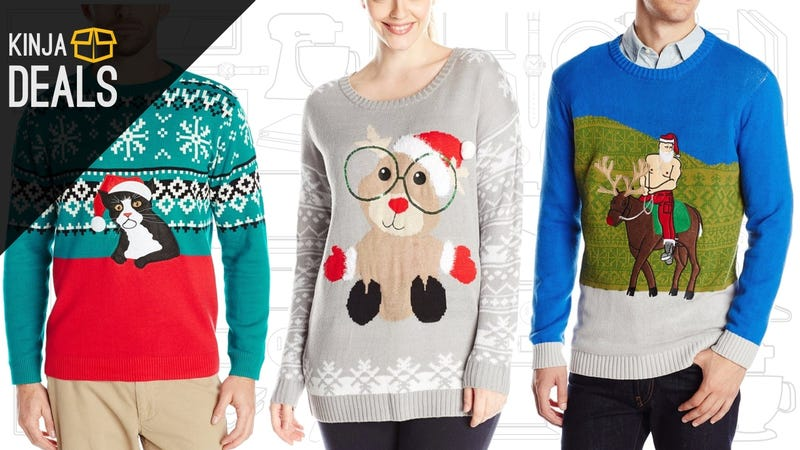 Illustration for article titled Be the Star of the Holiday Party Circuit With Amazon's Ugly Sweater Sale