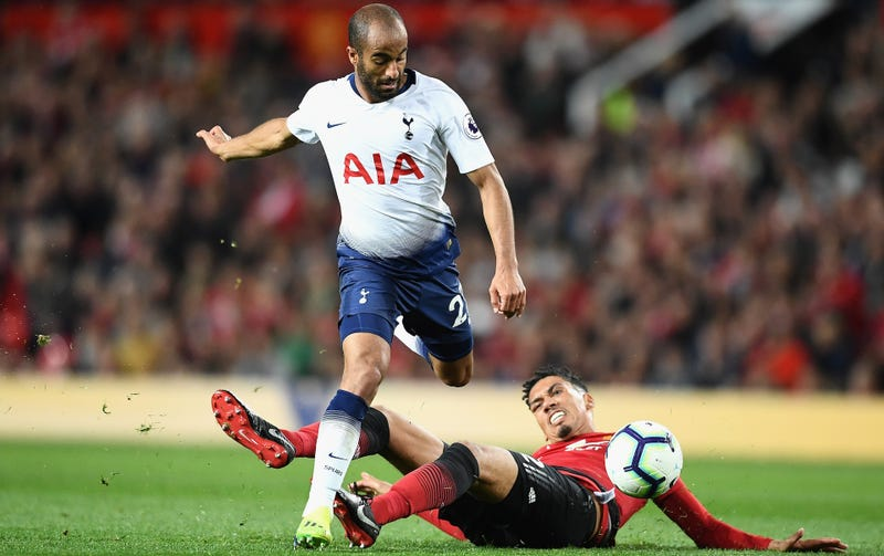 Illustration for article titled Lucas Moura Cooking Chris Smalling Is A Metaphor For Tottenham's Spanking Of Man United