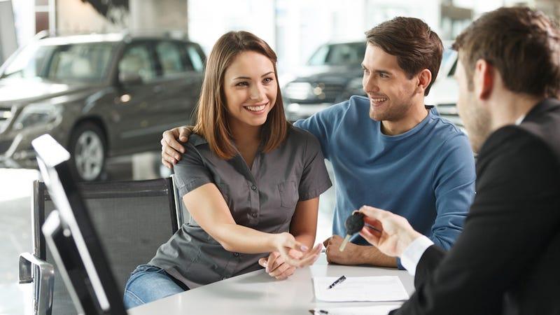 Latino Woman Buying A Car