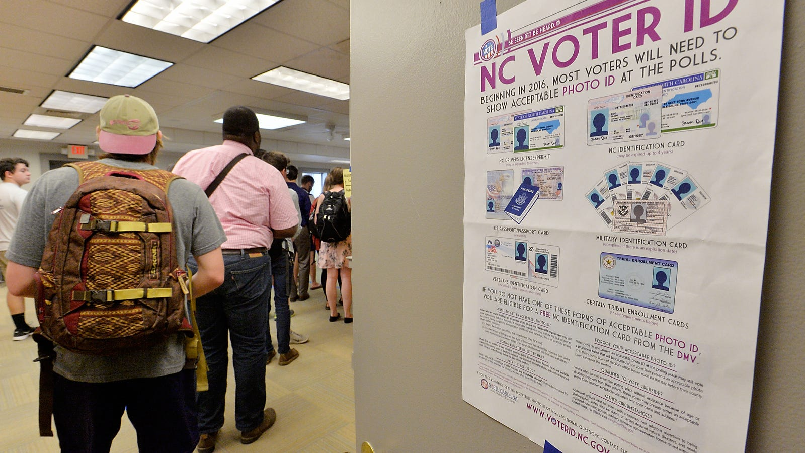 "strict voter id laws are necessary Americans affirm voter id laws that texas' ""strict photo id law"" discriminated against or face hardships in obtaining the necessary."