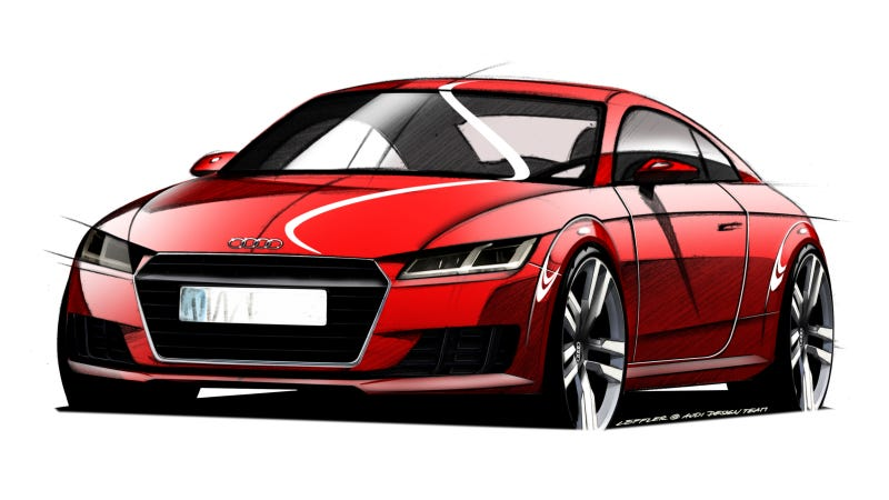 Illustration for article titled This Is What The 2015 Audi TT Will Look Like