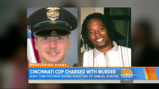 "On NBC's ""Today"" show on Thursday, Ray Tensing is shown in his Cincinnati police uniform alongside Samuel Dubose, the unarmed black man Tensing shot during a July 19 traffic stop.NBC Screenshot"