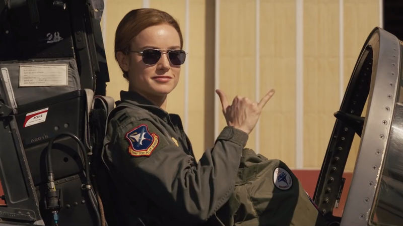 "Carol Danvers, asking the question on everyone's minds: ""u mad, bro?"""