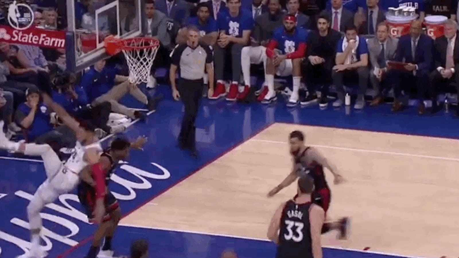 Ben Simmons Gets Away With Elbowing Kyle Lowry In The Dick And Balls - Deadspin