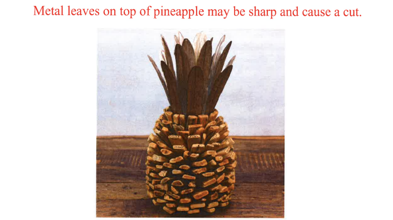 Illustration for article titled Cracker Barrel Recalls 'Driftwood Pineapple' Due to Risk of Injury