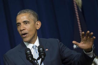 President Barack Obama speaks at an event marking the fifth anniversary of the Affordable Care Act March 25, 2015, in Washington, D.C.Jim Watson/AFP/Getty Images