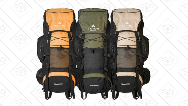 Teton Scout3400 Internal Frame Hiking Backpack | $45 | Woot