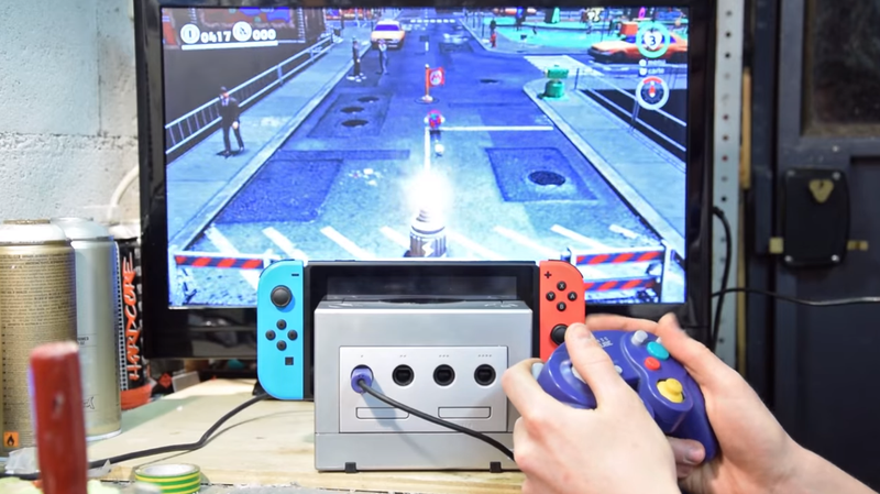 Illustration for article titled This GameCube Is Now A Switch Dock—With Working Controller Ports