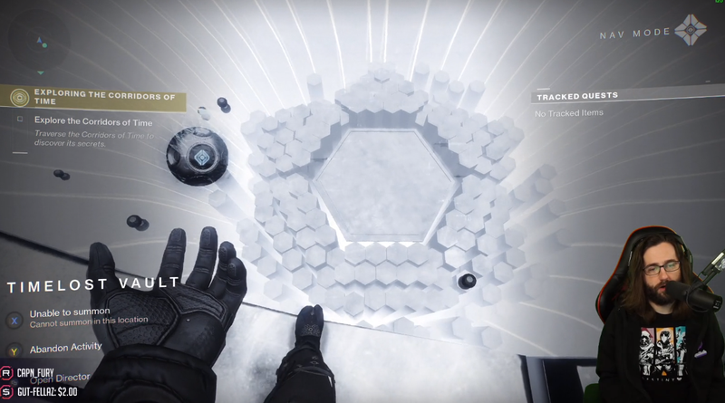 Twitch streamer SayNoToRage working on trying to solve Destiny 2's latest puzzle for the fourth day in a row.