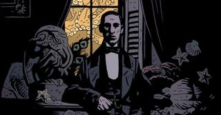 H. P. Lovecraft as drawn by Mike Mignola.