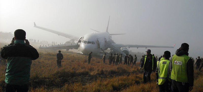 Illustration for article titled How Did This Airliner Land On The Grass In Nepal?