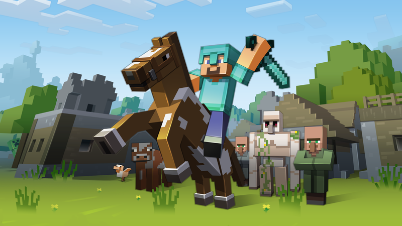 Illustration for article titled Someone Beat Minecraft Without Mining Any Blocks