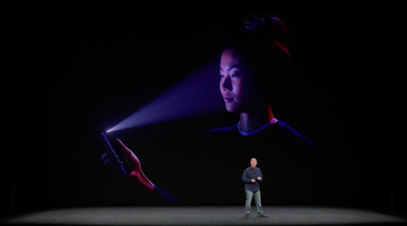 Face ID on the iPhone X