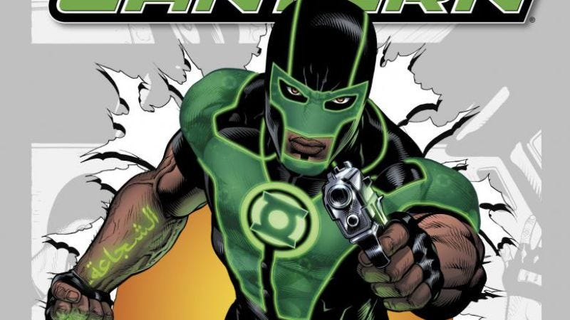Illustration for article titled The Arab-American Green Lantern debuts and everyone thinks he's a terrorist