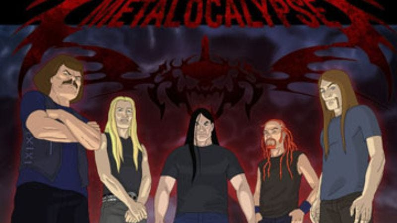 Illustration for article titled Dethklok: The Summer Tour Diary, First Entry