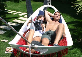 Illustration for article titled Plastic Hammock Concept Kinda Negates the Whole Point of Garden Swingers