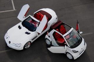 BRABUS SLR McLaren Roadster, Matching Smart ULTIMATE 112: Because ...