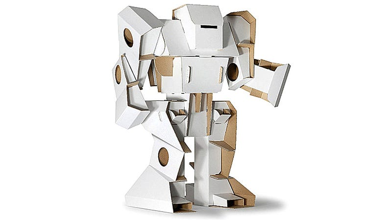 Illustration for article titled This Wonderful Cardboard Robot Proves the Box Is Always More Fun