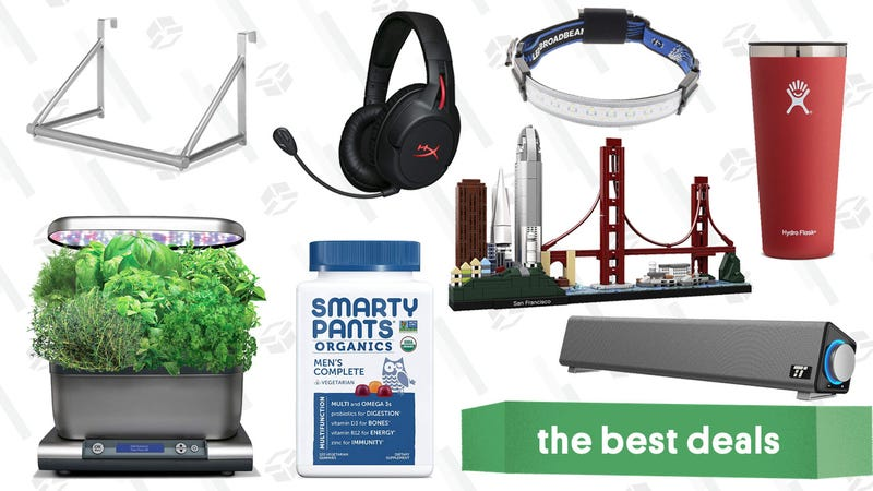 Illustration for article titled Thursday's Best Deals: Hydro Flask, Hanging Rack, HyperX Headset, and More