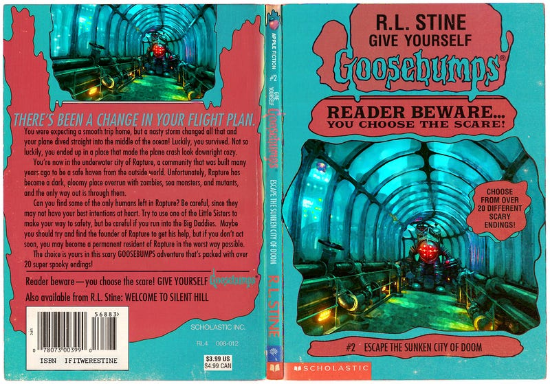 Classic Book Covers Reimagined : Classic video games reimagined as r l stine goosebumps books