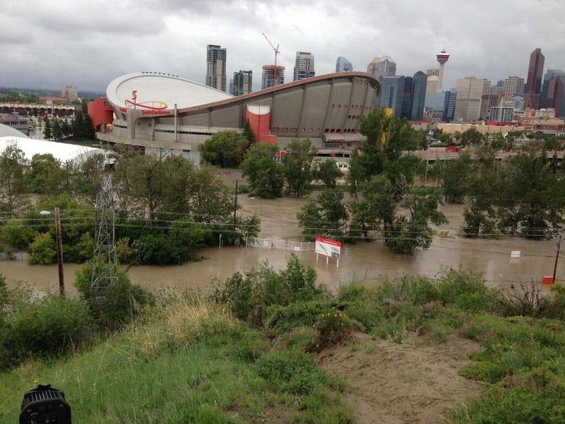 Illustration for article titled The Calgary Flames' Arena Is Flooding Right Now