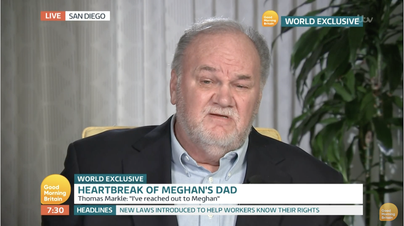 Illustration for article titled Meghan Markle's Dad Runs His Mouth Once More, Calls Meghan 'Controlling'