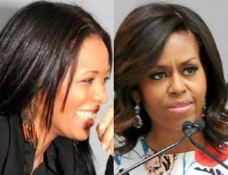 Professor Saida Grundy; first lady Michelle ObamaTwitter; Ben Gabbe/Getty Images