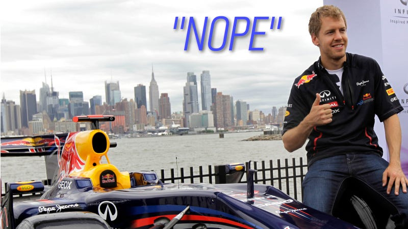 Illustration for article titled The New Jersey F1 Race That Wasn't Happening Isn't Happening After All