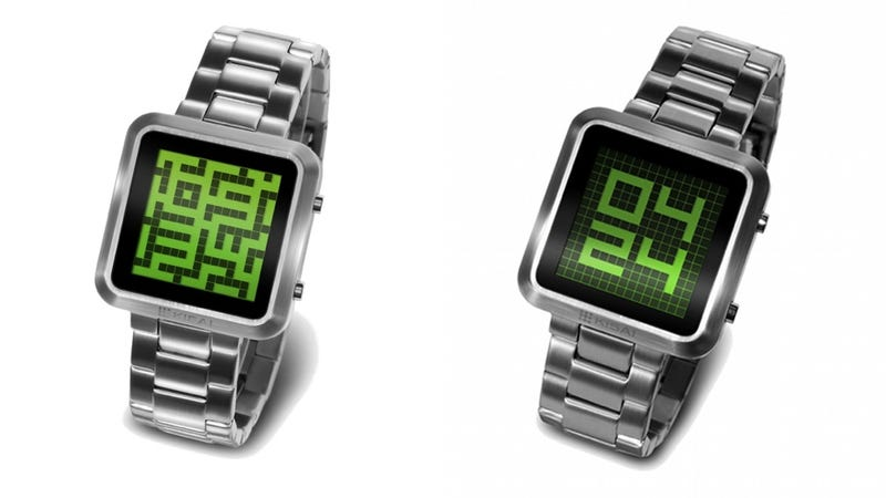 Illustration for article titled The Latest Tokyo Flash Watch Hides the Time in a Maze