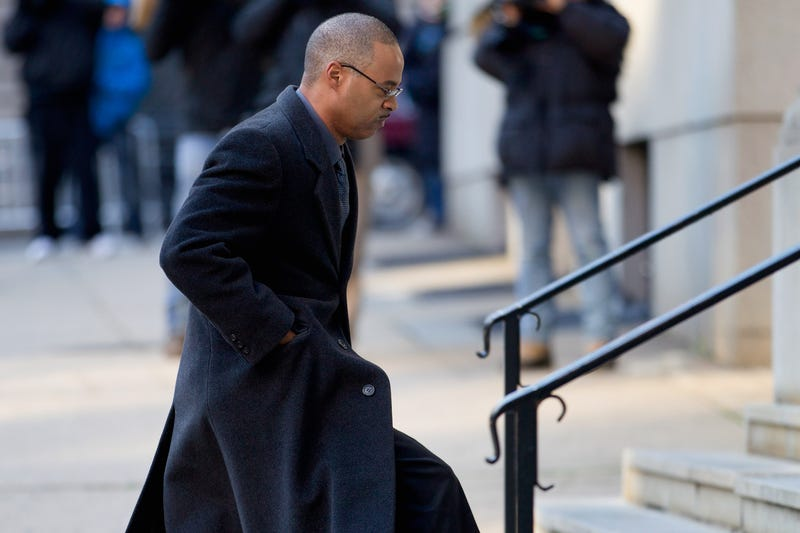Baltimore Police Officer Caesar Goodson Jr. arrives at the Mitchell Courthouse-West in Baltimore on Jan. 11, 2016, for jury selection in his trial regarding the death of Freddie Gray. Goodson ultimately decided to have a bench trial.Jose Louis Magana-Pool/Getty Images