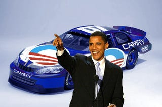 Illustration for article titled Presidential Candidates Accused Of Automotive Flip-Flopping
