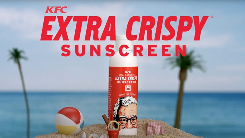 Illustration for article titled KFC Is Giving Away Sunscreen That Makes You Smell Like Fried Chicken
