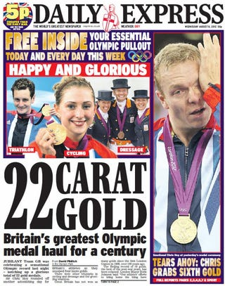 Illustration for article titled British Newspaper Celebrating British Gold Accidentally Puts Dutch Team On Front Page