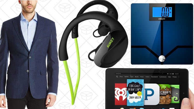 Illustration for article titled Today's Best Deals: Fire HD 6, Wireless Earbuds, Bluetooth Smart Scale, and More