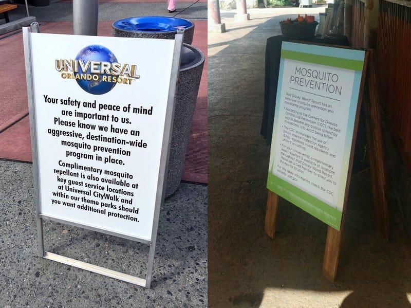 Sign at Universal Orlando (photo by Derek Burgan) sign at Disney's Animal Kingdom (photo by WDW News Today)