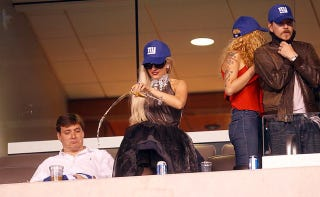 Illustration for article titled Lady Gaga Poured Champagne Into A Disabled Section At The Giants Game Last Night
